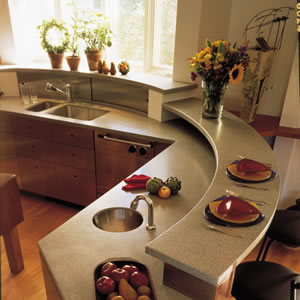 Corian is at the edge of design with new colors and patterns introduced continually.